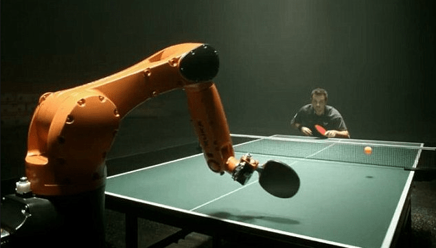 pingpong practice with robot