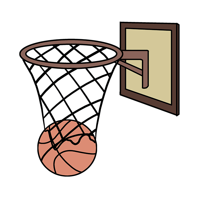 How to Draw a Basketball Hoop – Step by Step Easy Drawing